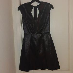 Metallic black Designer Halston dress